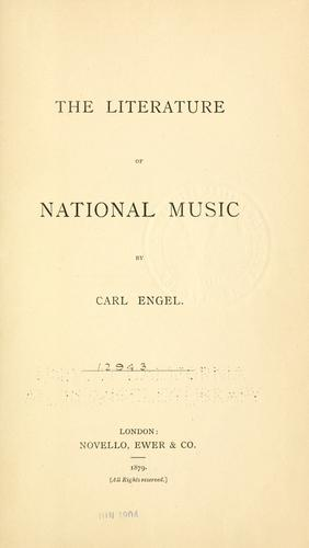 Download The literature of national music