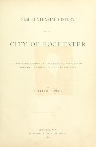 Download Semi-centennial history of the city of Rochester