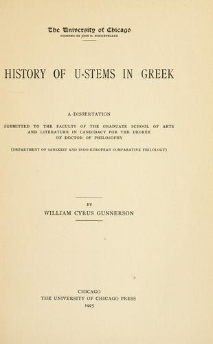 History of u-stems in Greek.