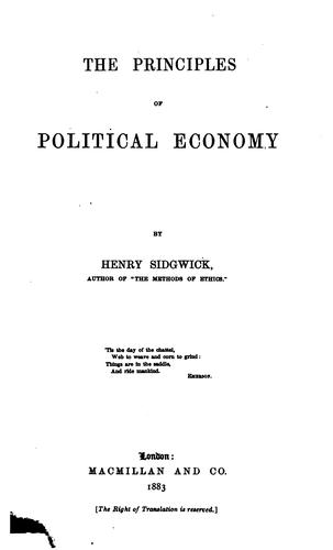 Download The principles of political economy