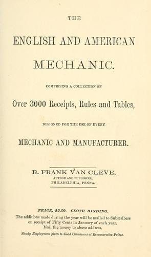The English and American mechanic.