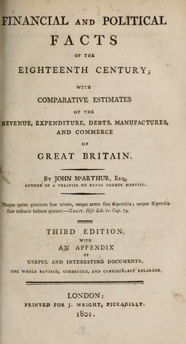 Financial and political facts of the eighteenth century