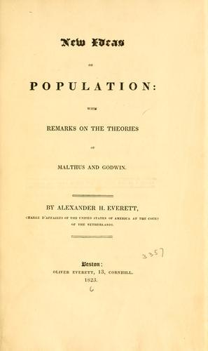 New ideas on population