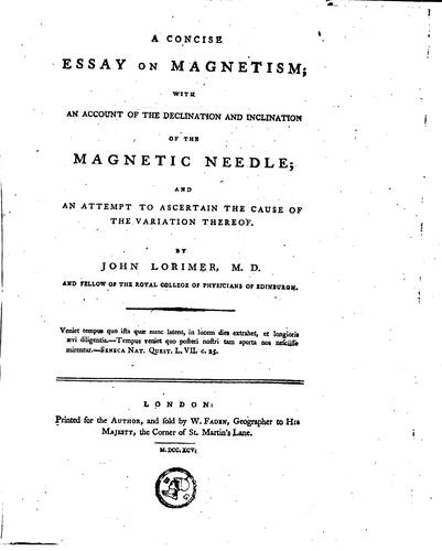 Download A concise essay on magnetism