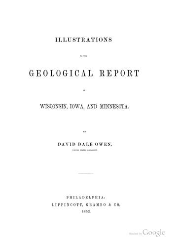 Download Report of a geological survey of Wisconsin, Iowa, and Minnesota