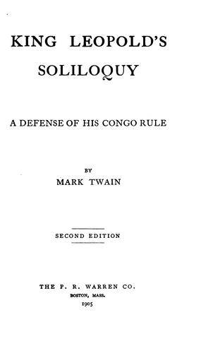 Download King Leopold's soliloquy