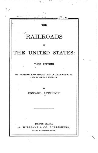Download The railroads of the United States.