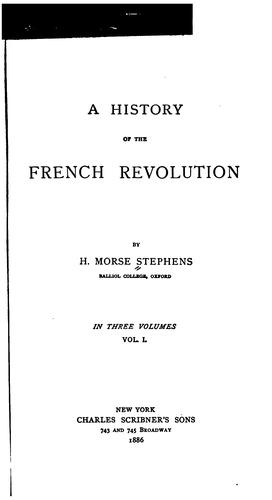 Download A history of the French revolution