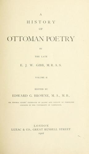 Download A history of Ottoman poetry