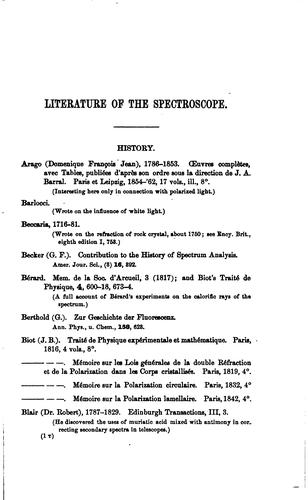 Download Index to the literature of the spectroscope.