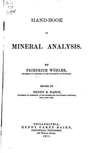 Download Hand-book of mineral analysis.