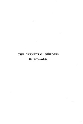 Download The cathedral builders in England