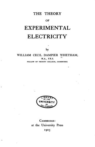 Download The theory of experimental electricity