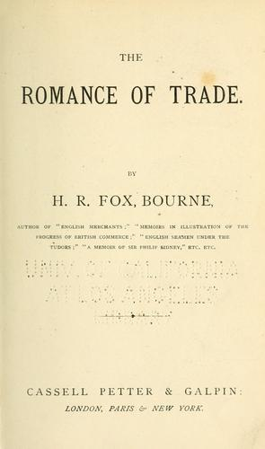 The romance of trade.