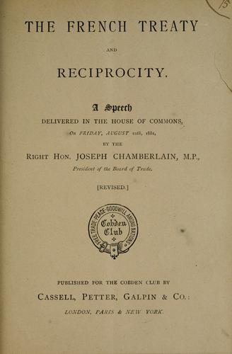 The French treaty and reciprocity