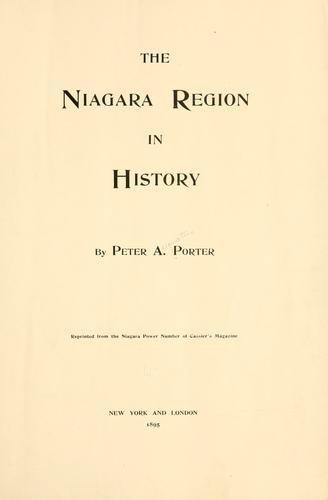 The Niagara region in history.