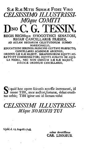 Caroli Linnæi …