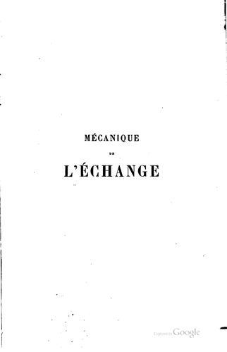 Download Mécanique de l'échange