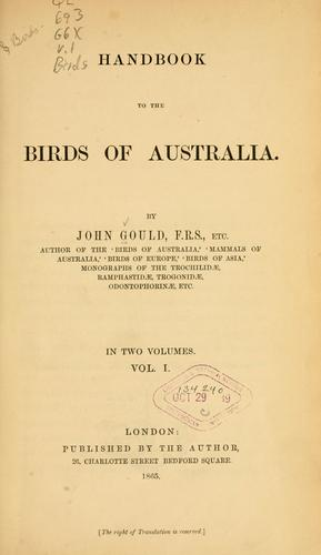 Download Handbook to The birds of Australia.