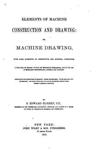 Download Elements of machine construction and drawing
