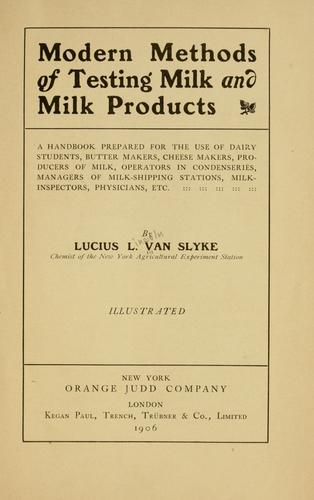 Download Modern methods of testing milk and milk products