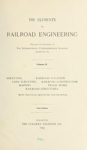 Download The elements of railroad engineering.