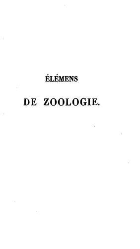 Élémens de zoologie