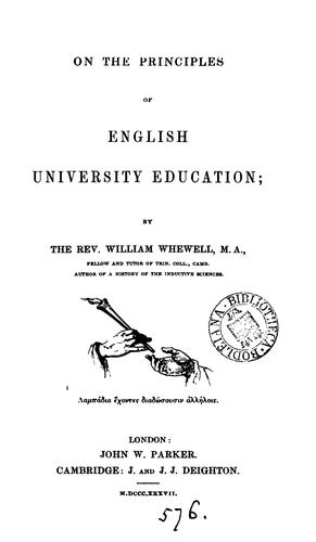 Download On the principles of English university education