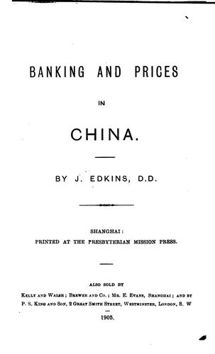 Download Banking and prices in China