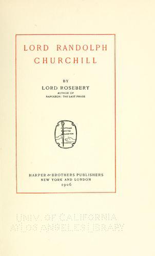 Download Lord Randolph Churchill