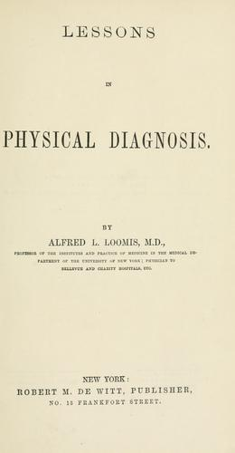 Lessons in physical diagnosis.