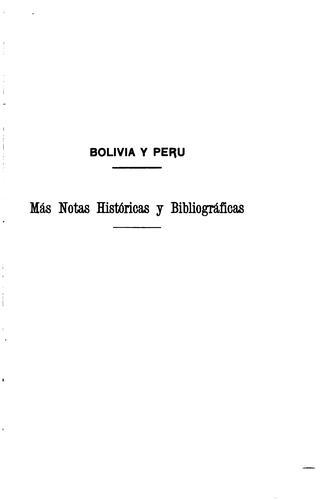 Bolivia y Perú