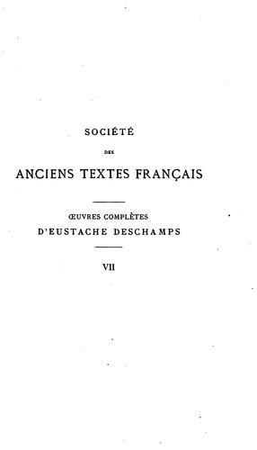 Œuvres complètes de Eustache Deschamps