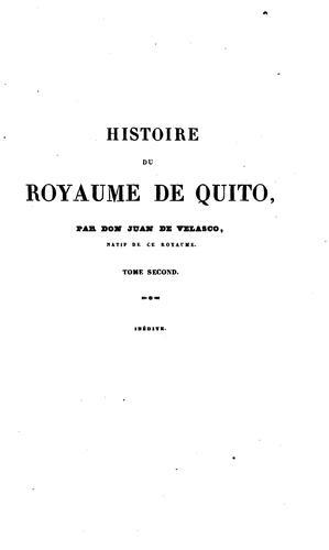 Download Histoire du royaume de Quito