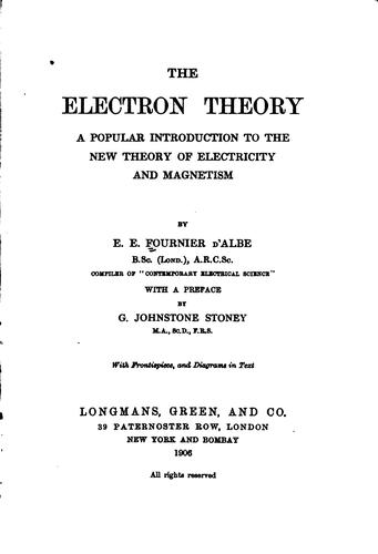 The electron theory.