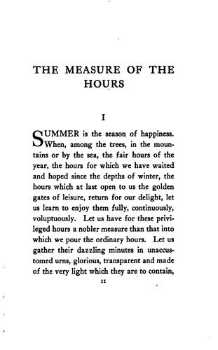 Download The measure of the hours