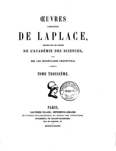 Download Œuvres complètes de Laplace