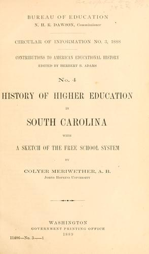 Download History of higher education in South Carolina