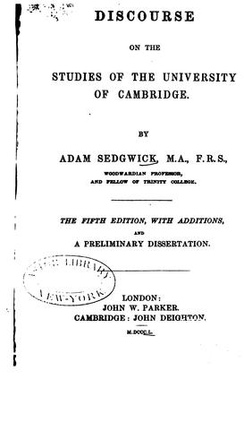 Download A discourse on the studies of the University of Cambridge.