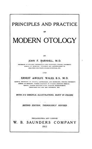 Download Principles and practice of modern otology