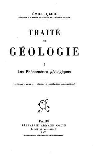 Download Traité de géologie.