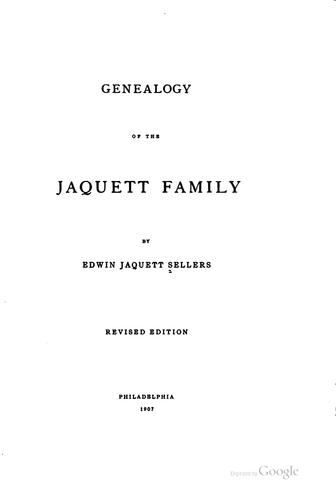 Download Genealogy of the Jaquett family