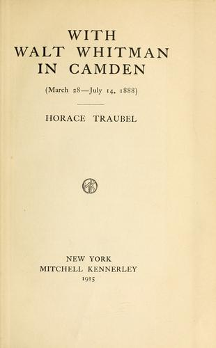 Download With Walt Whitman in Camden