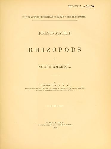 Download Fresh-water rhizopods of North America.