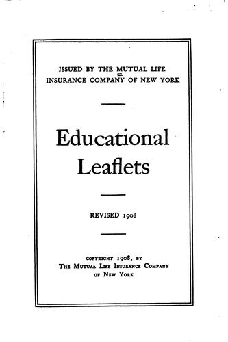 Educational leaflets.