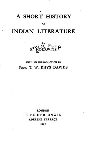 Download A short history of Indian literature
