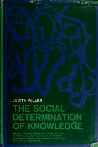 Download The social determination of knowledge.