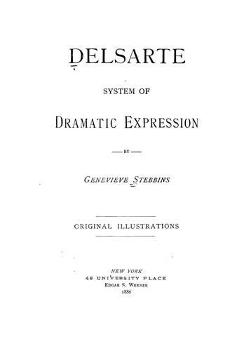 Delsarte system of dramatic expression