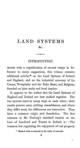 Download Land systems and industrial economy of Ireland, England, and continental countries.