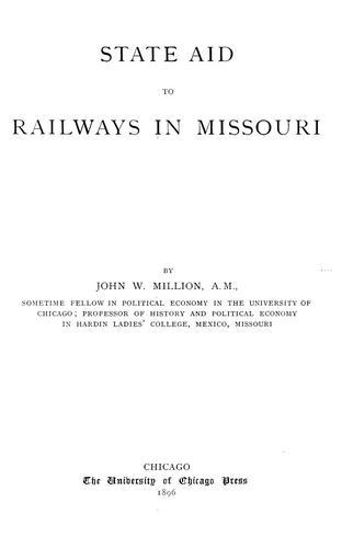 Download State aid to railways in Missouri